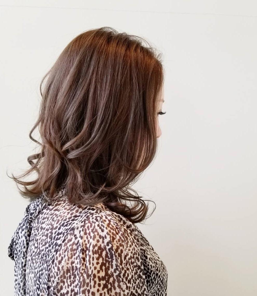 透明感カラーのロングヘア